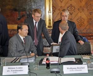 Dittmar Lemke im Untersuchungsausschuss HSH Nordbank
